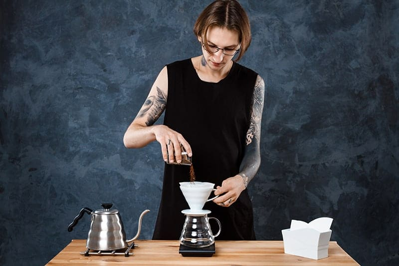 pour over coffee brewing tut