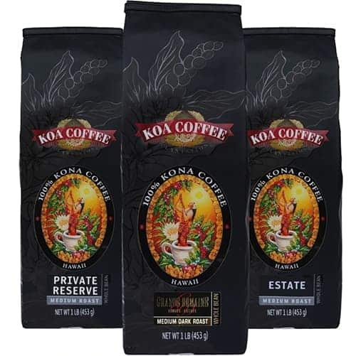 koa kona coffee tripack