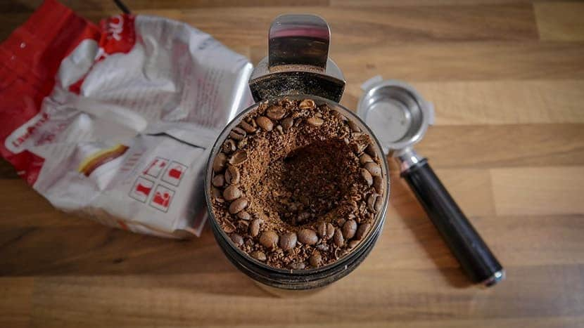 grinded coffee beans