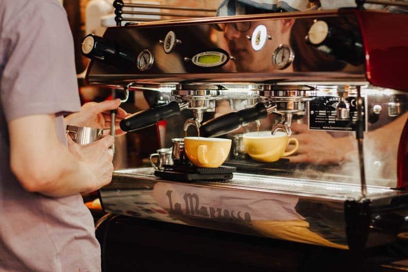 espresso machine with grinders
